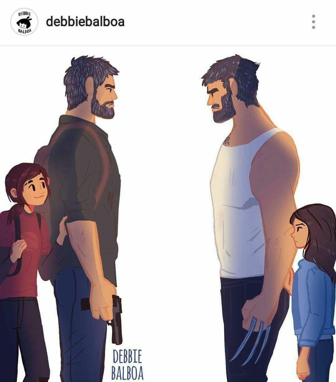 Joel meeting Logan (Xpost from r/marvel) The last of us