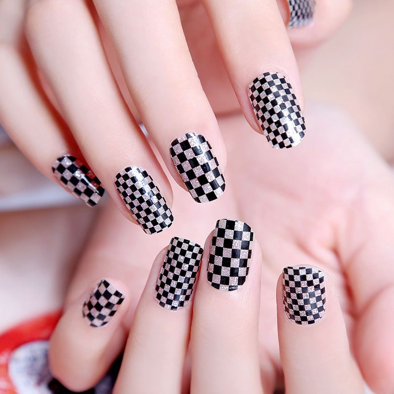 2015 New 3D Nail stickers decals Korea Skyblue Purple Black and ...