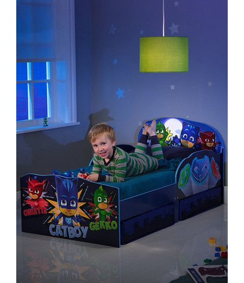 963e3eb78d7f PJ Masks Toddler Bed with Storage in 2019