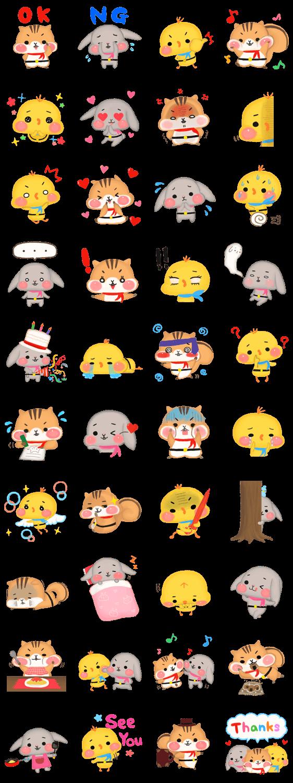 Hoppe Tai By Nako Yamaguchi Line Stickers Store Design