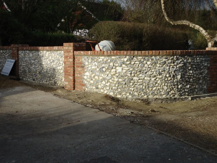 Flint Walling - Curved Sections | Wood, Furniture, Wall