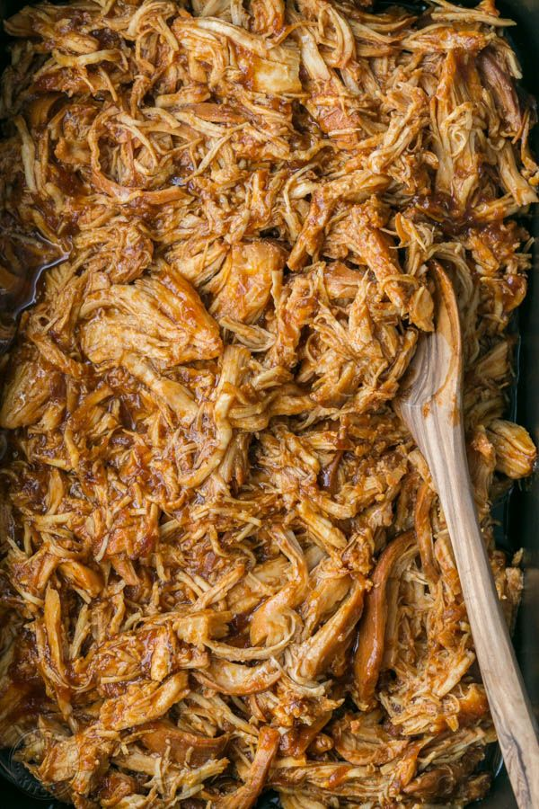 Crockpot Bbq Chicken The Best Slow Cooker Pulled Chicken Fall Apart Tender Juicy And