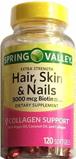 Spring Valley Extra Strength Hair Skin Nails 5000 Msg