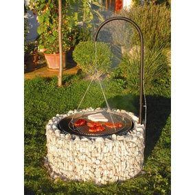 Gabionen Grill Und Feuerstelle 92 Cm X 40 Cm X 142 Cm Kaufen Bei Obi Grill Selber Mauern Feuerstelle Garten Grillstelle