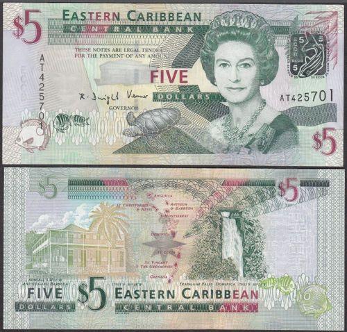 Eastern East Caribbean Dominica Paper Money $20 UNC