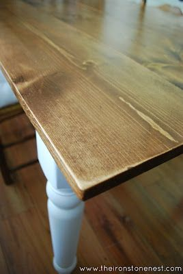 Refinished Table Top Farm Table Diy Dining Table Diy Farm Table