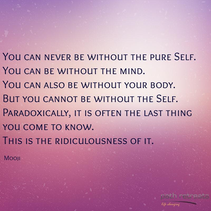 Mooji Quote | Spiritual Awakening | Mooji quotes, Spiritual quotes
