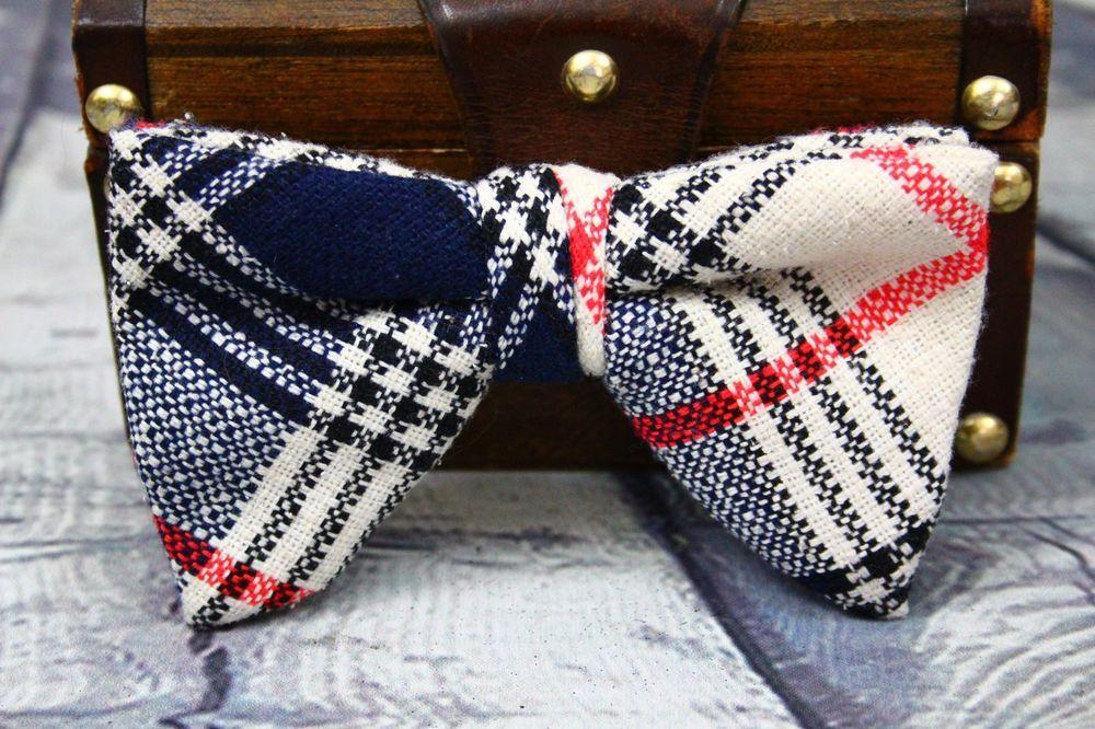 Vintage Plaid Cotton Bowtie Big Multi-Colored Men's Women's Unisex Nerdy Hipster #unknown