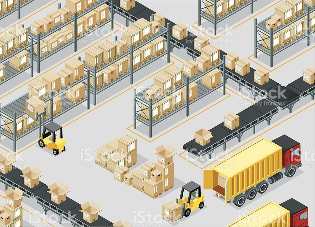 Isometric Storage Room Made In Adobe Illustrator Warehouse Management Isometric Warehouse Layout
