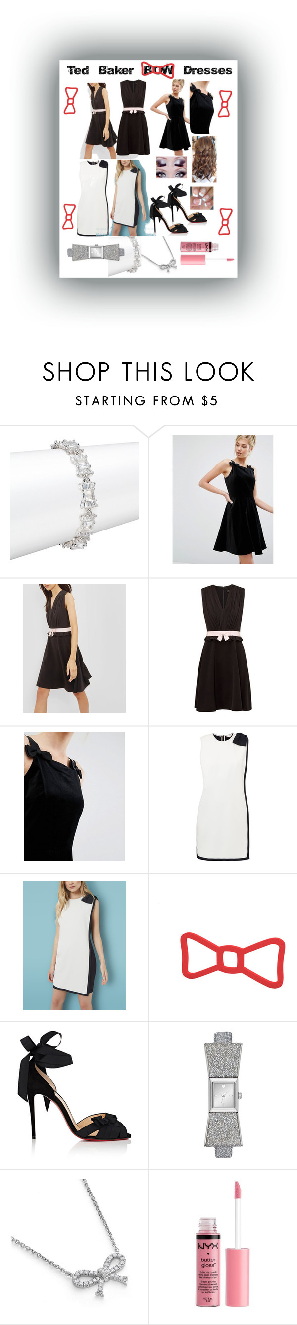 """All Tied Up Pretty!"" by snowflakeunique ❤ liked on Polyvore featuring Kate Spade, Ted Baker, Christian Louboutin and Charlotte Russe"