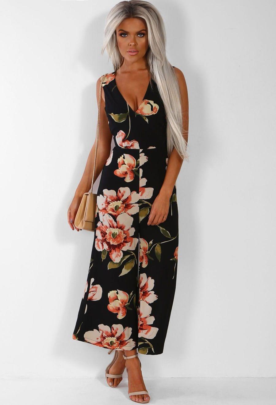 f1d2153f12fd Piece Of Me Black Multi Floral Culotte Jumpsuit