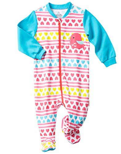 63757f2a1036 Comhoney Baby Boys Girls Footed Sleeper Pajama 100 Cotton Pink 12M ...
