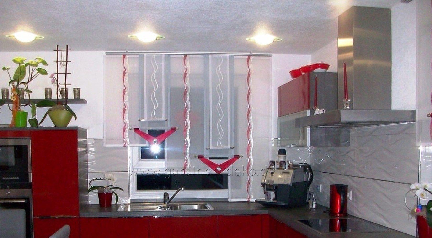 Schöner Stufenvorhang für die Küche in silber-grau und weiß - http ...