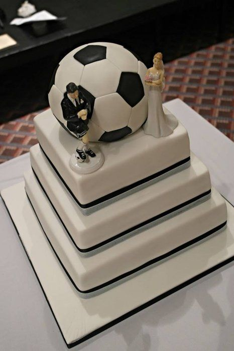 Football Themed Wedding Cake Football Is Cake Too Things In