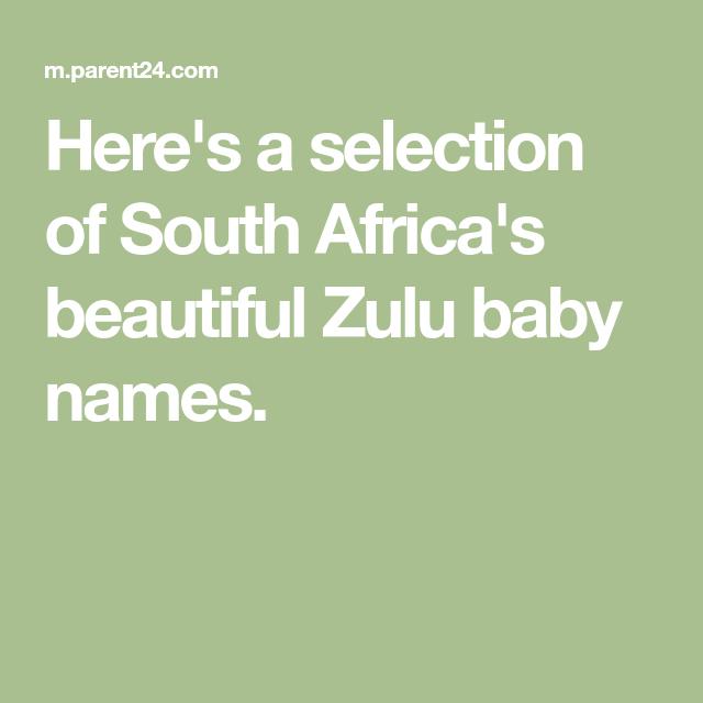10+ Zulu names starting with u info