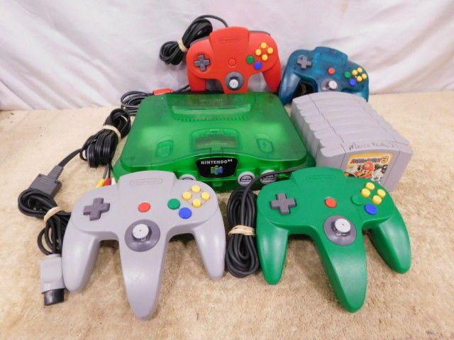 C12| Neon Green Nintendo 64 w/Accs. & 8 Games: MarioKart 64 MarioParty 3 & More https://t.co/qS9LdZWhPS https://t.co/nwwRIpeFE5