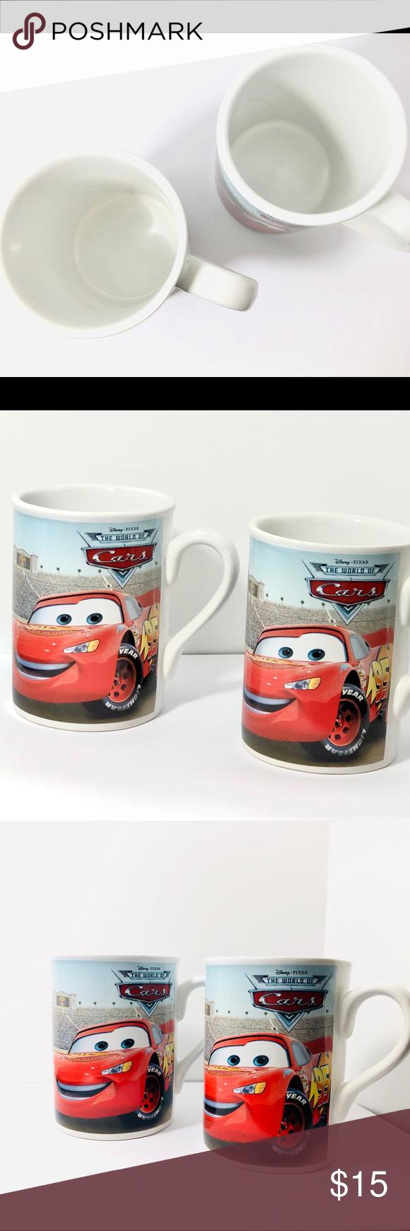 2008 Disney Pixar The World of Cars Coffee Mugs 2008 Disney Pixar The World of Cars Coffee Mug Set Disney Kitchen Coffee & Tea Accessories #disneycoffeemugs