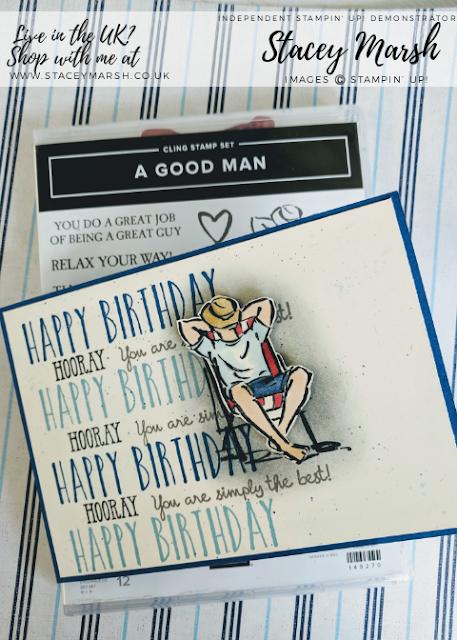 Stampin' Up! A Good Man Birthday Card