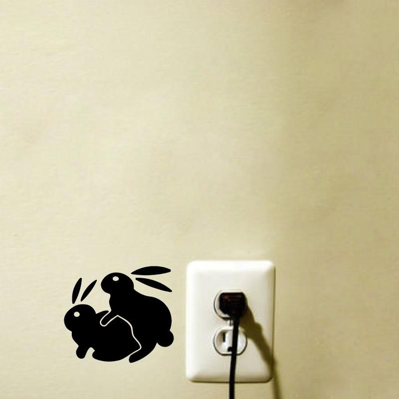 Visit to Buy] Bunny Rabbit Sex Fansy Switch Sticker Funny Removable ...