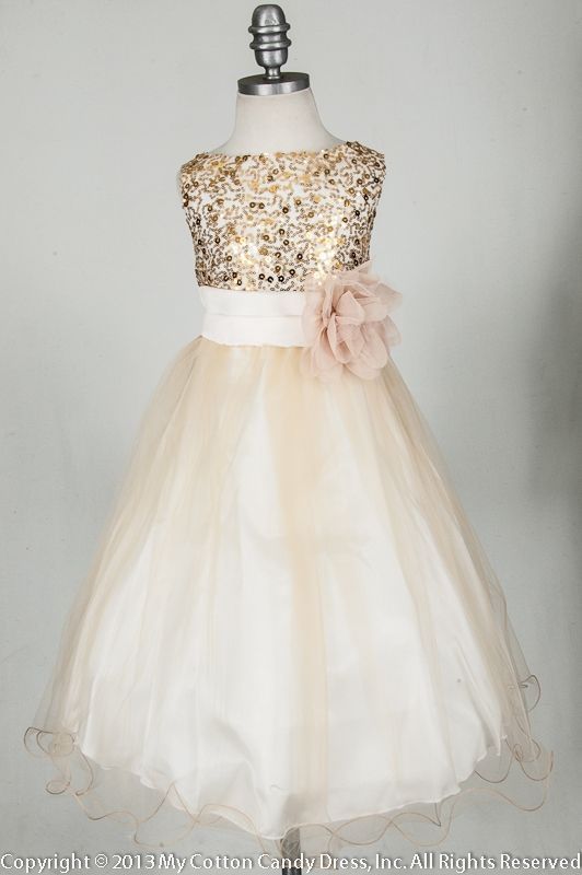 Champagne Flower Girl Dress with purchase link | Wedding ...