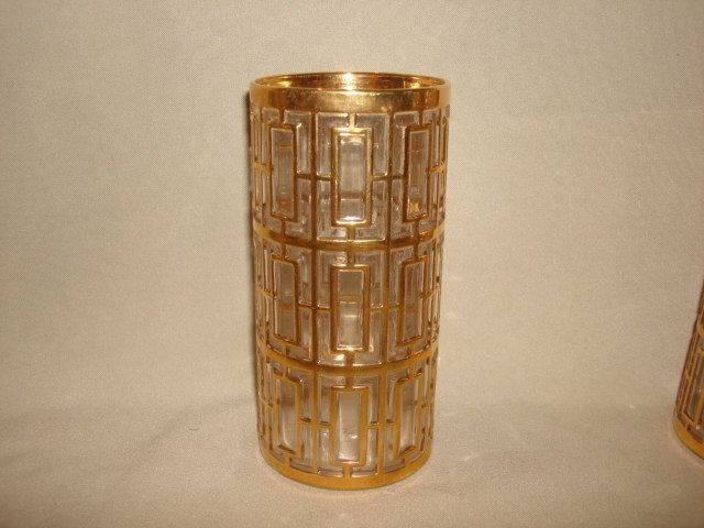 3 Available - Vintage Imperial Glass Iced Tea Tumbler ~ Gold Shoji TIKI BAR Hollywood Regency ~ Trader Vic's by PastPossessionsOnly on Etsy