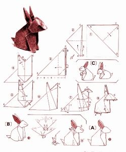 Rabbit origami diagram 2