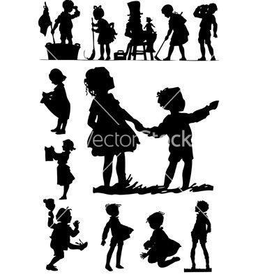 Children silhouettes vector 31159 - by zaphod2008 on VectorStock®