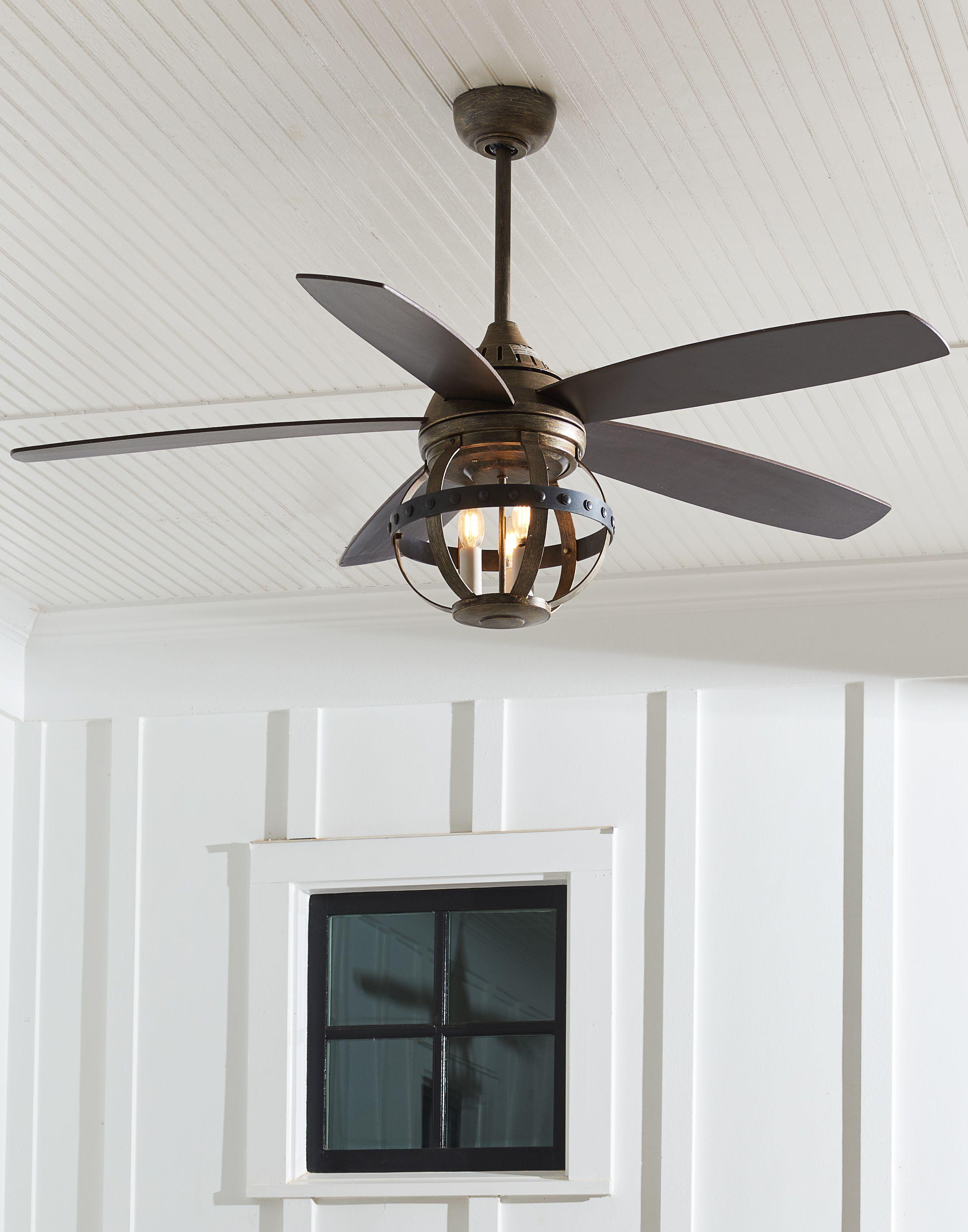 Savoy House Alsace 52 3 Light Indoor Outdoor Ceiling Fan In Reclaimed Wood Ceiling Fan Rustic Ceiling Fan Living Room Ceiling Fan