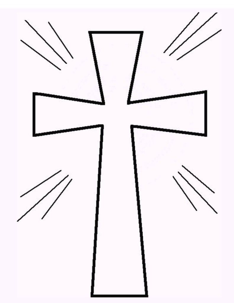 Free Printable Cross Coloring Pages Cross Coloring Page First