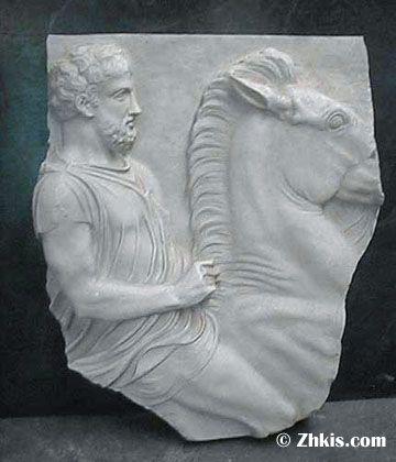 Man On Horse Wall Fragment Horse Wall Man On Horse Horse Sculpture