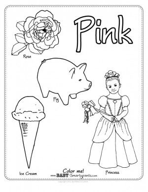 post image for the color pink coloring page preschool journalspreschool classpreschool ideaskid activitiesteacher worksheetslearning - Learning Colors Worksheets For Preschoolers