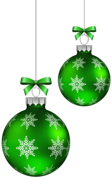 Green christmas balls decoration png clipart image for X mas decorations png