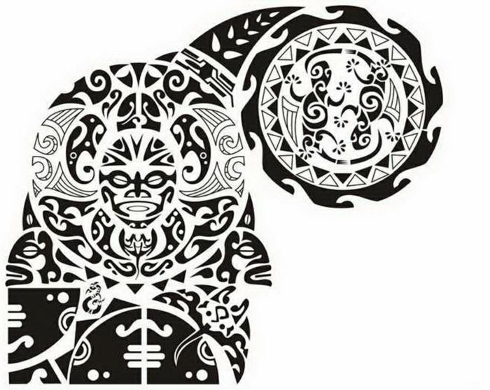 Tatuajes Brazo Hombre Diseño De Tatuaje Maori En Blanco Y Negro