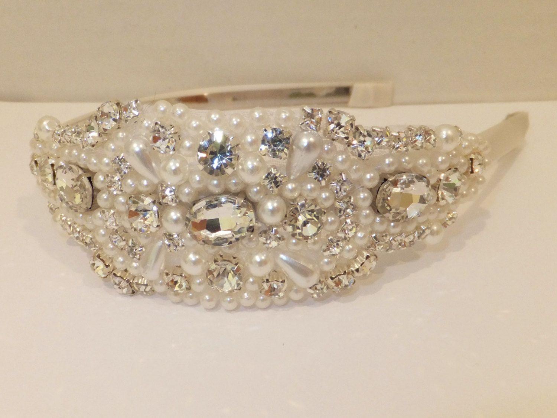 Wedding Headpiece JADE Pearl Headpiece by BellaCescaBoutique, $40.00