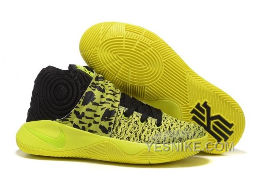 Big Discount  66 OFF Nike Kyrie 2 YellowVoltBlack Mens Basketball Shoes