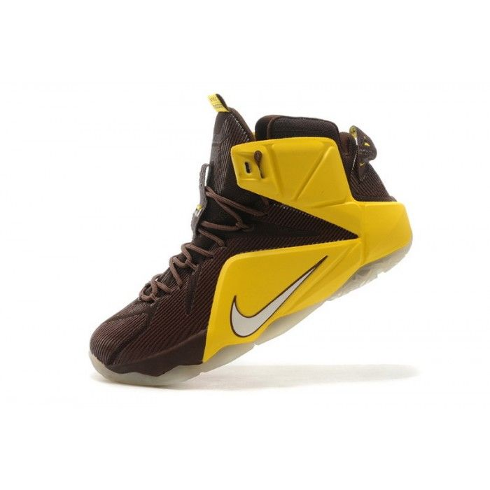 lowest price 140a7 c00d7 Nike LeBron 12 Cleveland Cavaliers Yellow Brown Shoes | Love ...