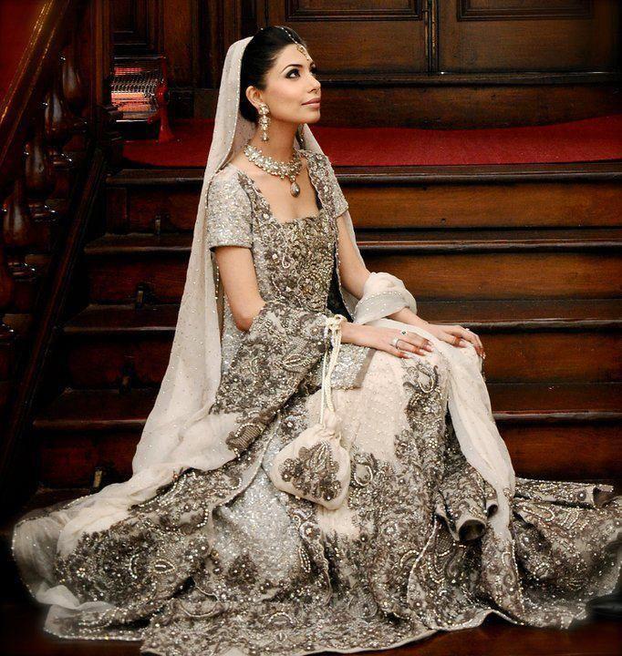 Indian Bridal- Richly Beaded White | Indian fashion, Indian bridal ...