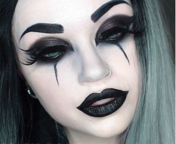 25 Scary But Cute Makeup Ideas To Try For Halloween Fasching 2018