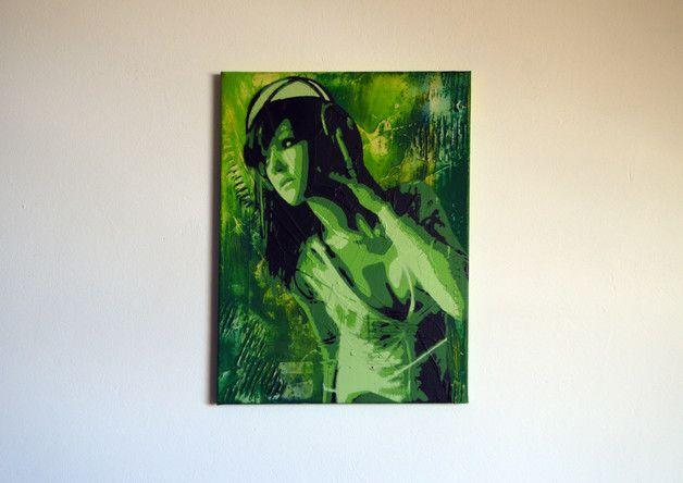 Momoko will in dein Wohnzimmer! Vordergrund Stencilkunst mit
