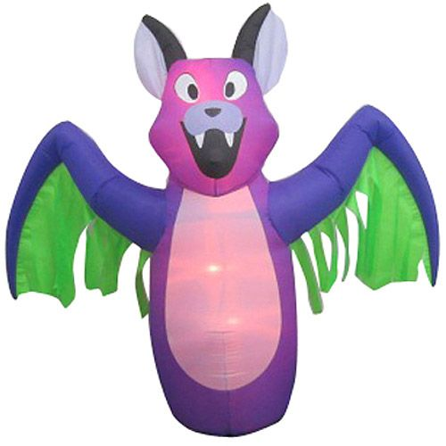6\u0027 Airblown Inflatables Animated Bat with Wings Halloween  Walmart