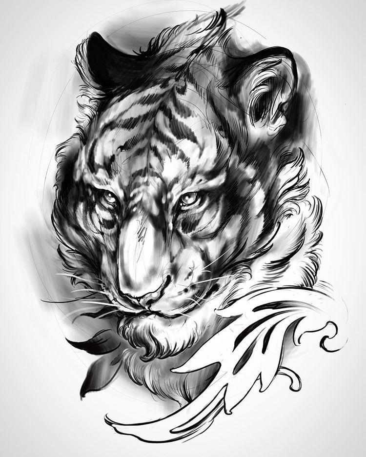 Картинки эскизы тигров