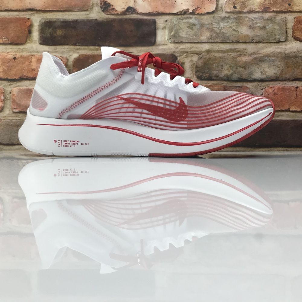11d314d3f8043 Nike Zoom Fly SP Running Racing Shoes Mens Size 11.5 University Red AJ9282  100