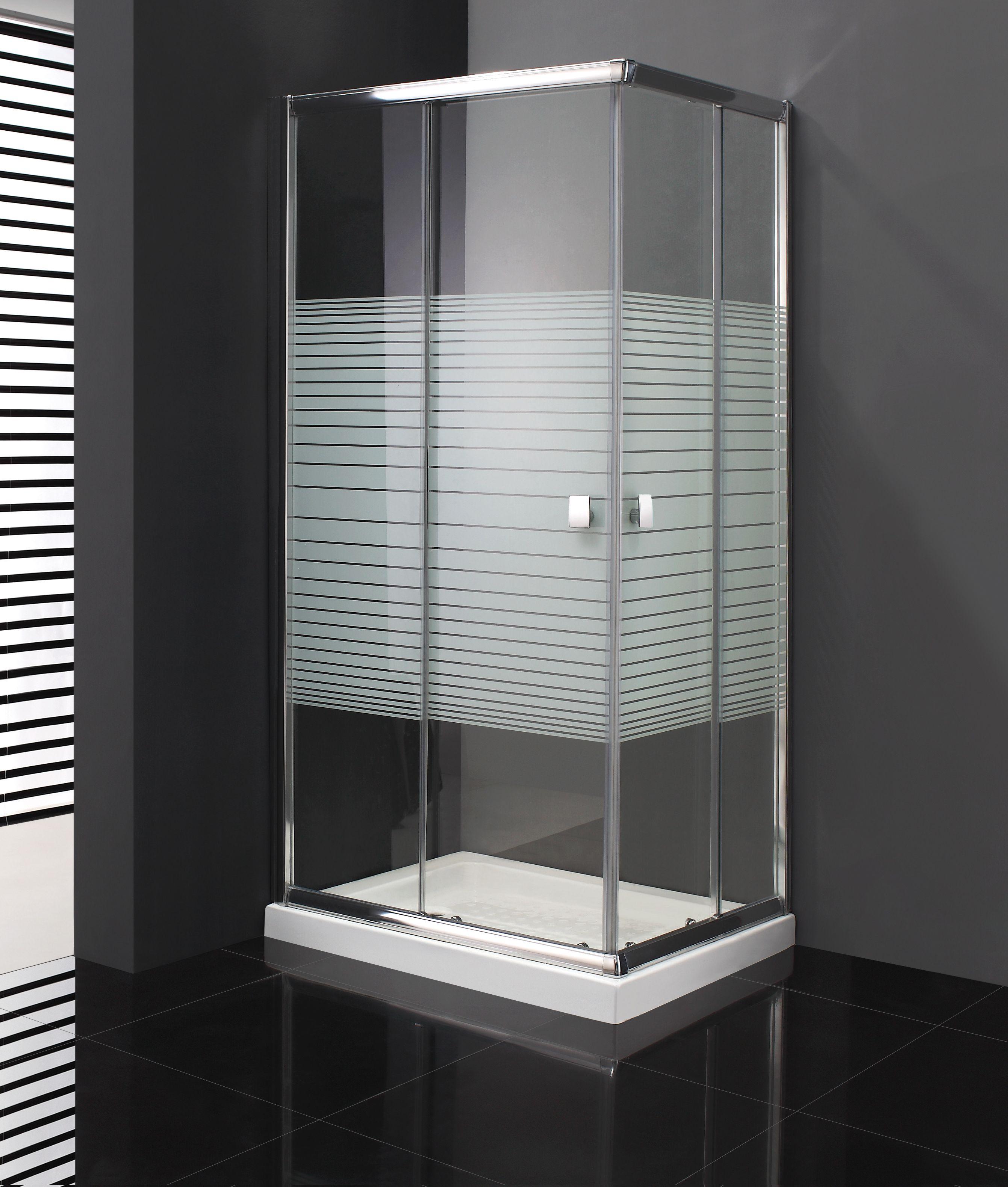 Mamparas de #ducha modelo Titan 2 fijos + 2 correderas abierta al ...