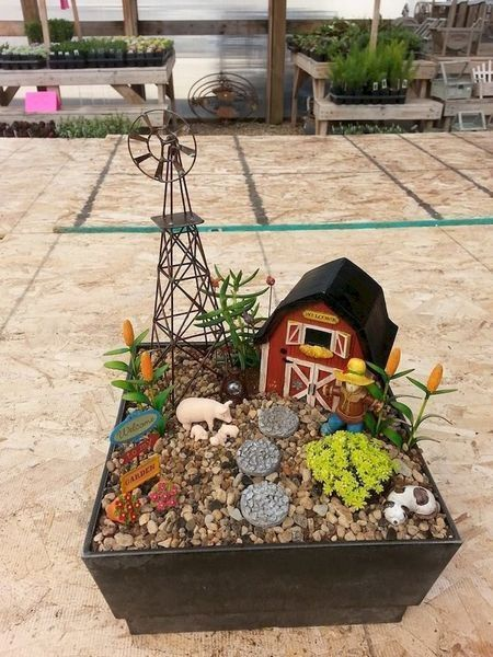 Beautiful Fairy Garden Ideas to inspire your mini garden - Fairy garden diy, Fairy garden designs, Fairy garden farm, Fairy garden, Mini fairy garden, Fairy garden houses - Making the fairy garden is quite easy, but that the lantern setting is in fact unique, like a little fairy hanging in a lamp over the garden