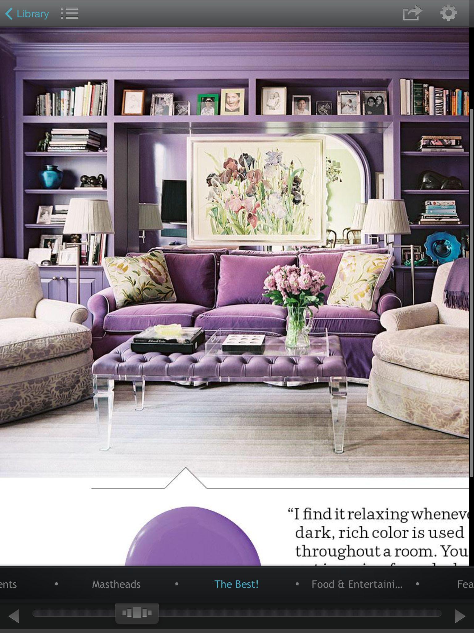 Living Room   Purple living room, Lavender living rooms ...
