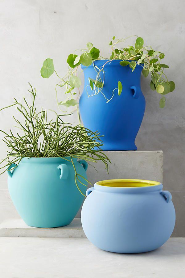 Pierre Color Contrast Pot Flower Pots Outdoor