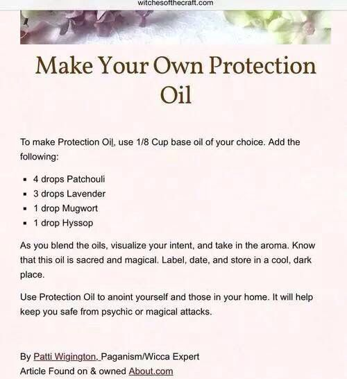 Protection oil | Protection spells | Healing oils, Protection sigils