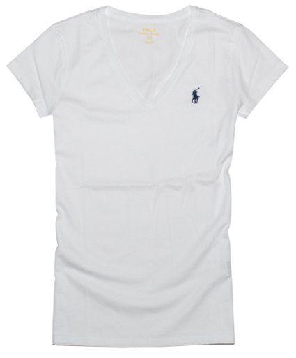 63d3fc511 Polo Ralph Lauren Women s Pony Logo V-Neck Tee at Amazon Women s Clothing  store