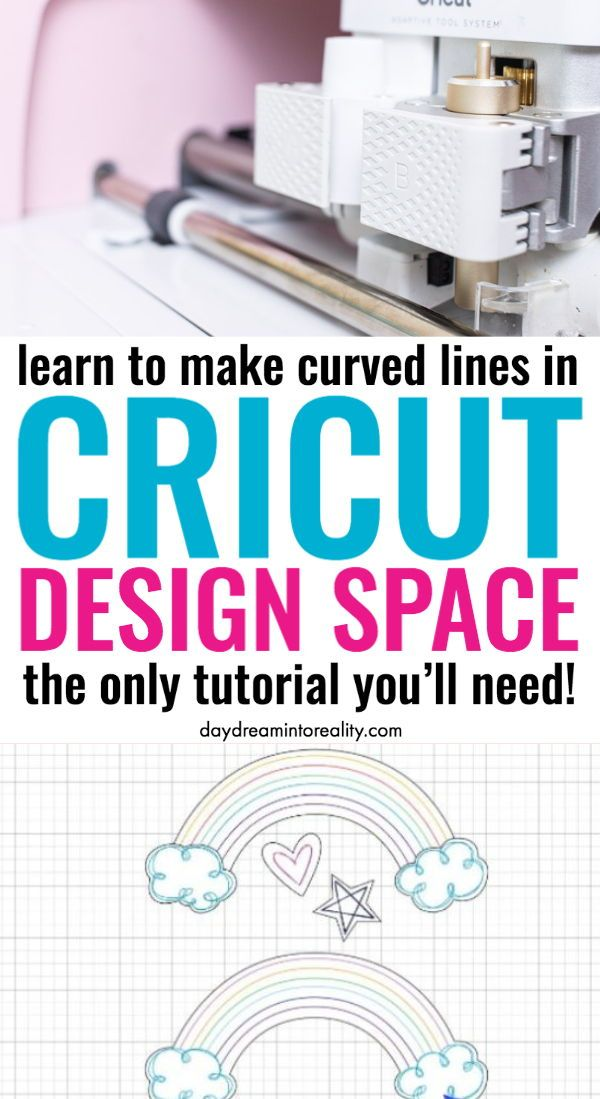 Learn how to make Curved Lines with your Cricut Maker or Explore Air. #cricut #cricutmade #cricuttutorials #cricutdesignspace #designspace #cricutmaker #cricutexploreair #cricutexploreair2