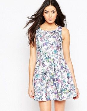 a95d9438e95 QED London Floral Skater Dress